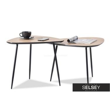 Beistelltisch-Set ROSIN Sonoma Eiche/schwarz 68x65 cm und 59x56 cm