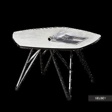 Beistelltisch ELADAR in Marmoroptik grau/schwarz 76x75 cm