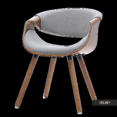 Stuhl BENTIAL Nussbaum / Grau