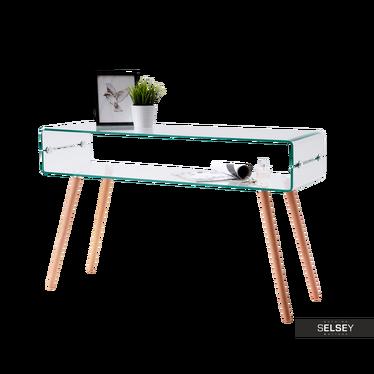 Schreibtisch AMBER aus Glas