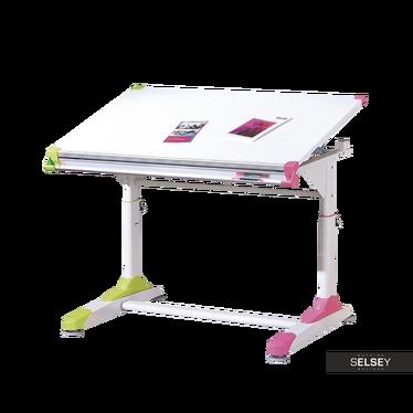 Schreibtisch KOLI mit bunten Einsätzen