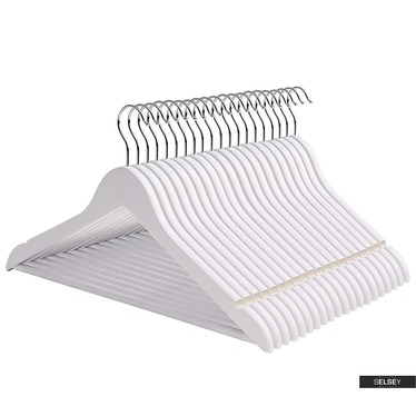 Kleiderbügel SNOW WHITE 50 Stück mit drehbarem Haken