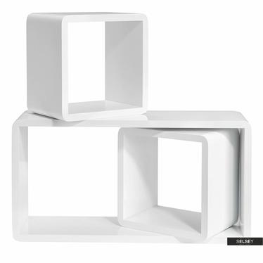 Wandregal KALIOPSI weiß mit abgerundeten Ecken im Cube-Design