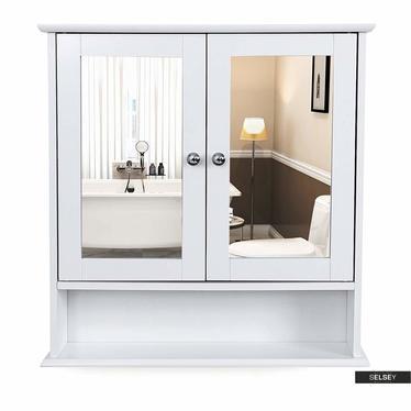 Spiegelschrank LUKE weiß 2-türig mit Ablage