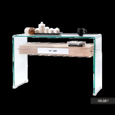 Schreibtisch OPAL Sonoma Eiche/weiß mit Schublade