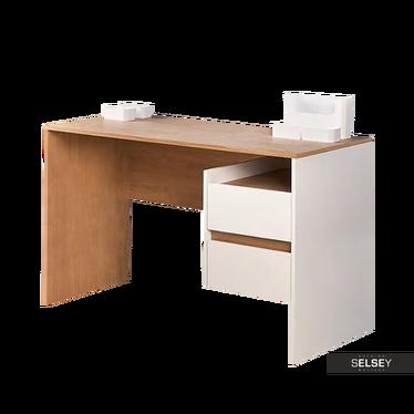 Schreibtisch SCAM Eiche/weiß