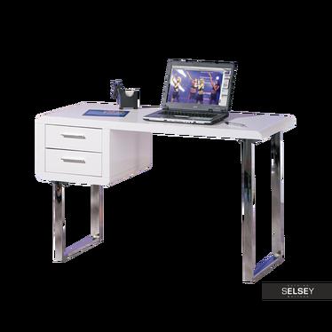 Schreibtisch ULTRA in hochglänzendem Weiß