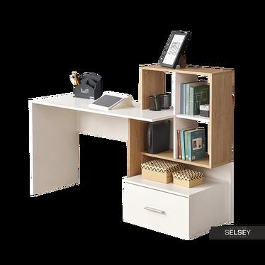 Schreibtisch VERONIUM Eiche/weiß