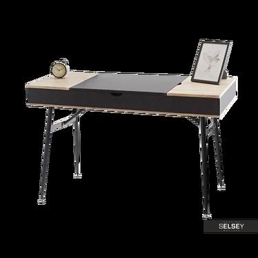 Schreibtisch VISBYZA schwarz aufklappbar