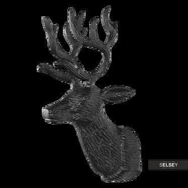 Rentierkopf schwarz 28 cm aus Aluminium