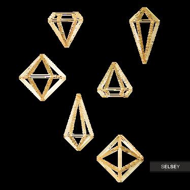 Wanddekoration ENZORI gold geometrische Drahtfiguren