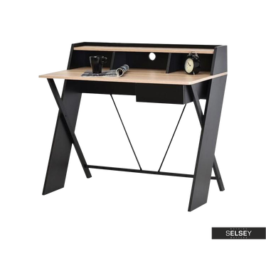 Schreibtisch ASGARD schwarz/Sonoma Eiche