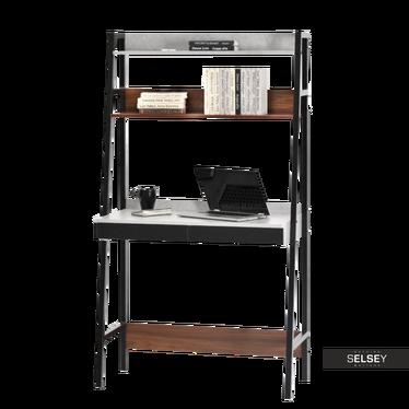 Schreibtisch BERG in Leiteroptik Nussbaum/Beton