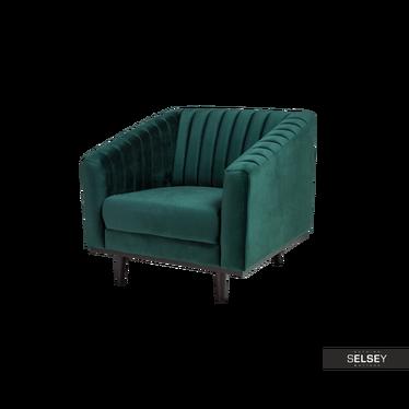 Sessel STIGBY grün mit Samtbezug