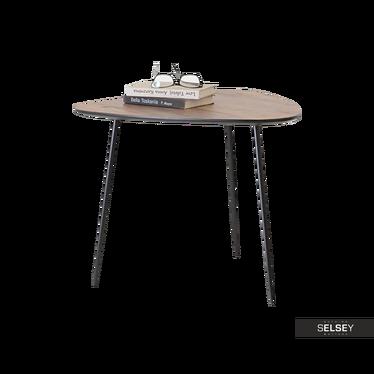 Beistelltisch ROSIN Nussbaum/schwarz 59x56 cm