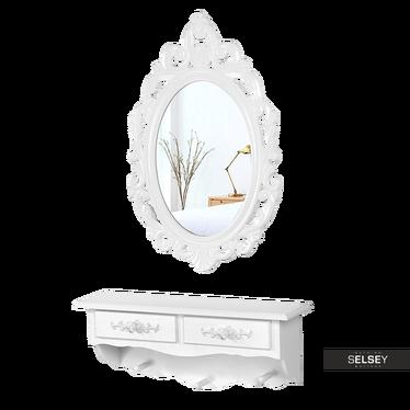 Schminktisch SHALOW ROSES 55 cm hängend mit ovalem Spiegel
