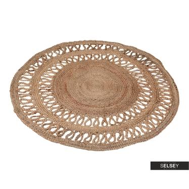 Teppich MAKRAMA 120 cm aus Jute
