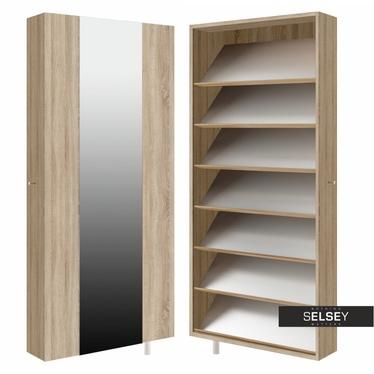 Drehschrank STRIP (Schuhschrank mit Spiegel, breit)