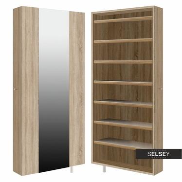 Drehschrank STRIP (Garderobe, mit Spiegel und Fächer, breit)