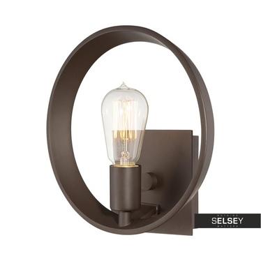 Wandlampe THEATER ROW braun mit Edison-Glühbirne