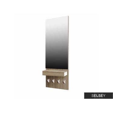 Wandpaneel mit Spiegel, Schublade und Kleiderhaken L`HOMBRE