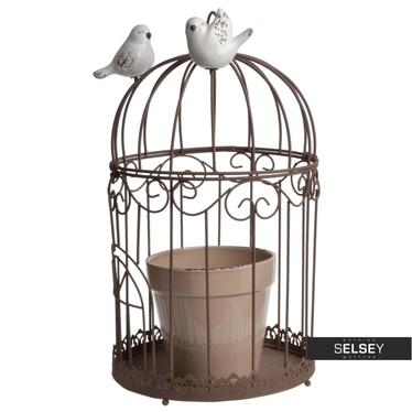 Blumentopf + Käfig