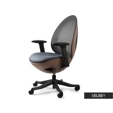 Schreibtischstuhl EGG braun/schwarz mit regulierbaren Armlehnen