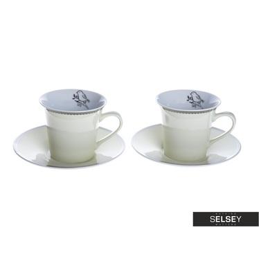 Tassen-Set NIGHTINGALE beige 2 Stück