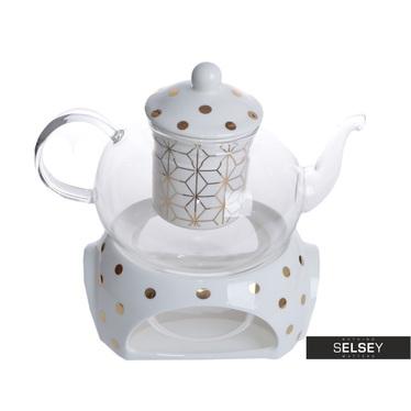 Teekanne OPTIMAL mit Teeei und Stövchen