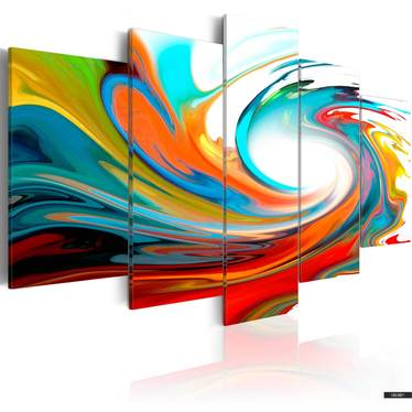 Wandbild BUNTER STRUDEL 100x50 cm