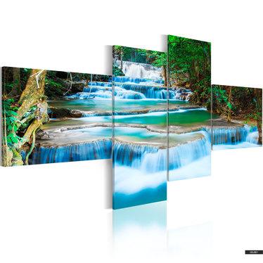 Wandbild BLAUER WASSERFALL 200x90 cm