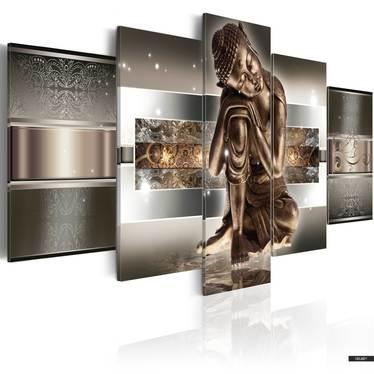 Wandbild SCHLAFENDER BUDDHA 100x50 cm
