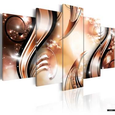 Wandbild APRIKOSEN-SOUFFLÉ 100x50 cm