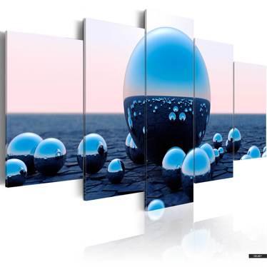 Wandbild FLOATING BALLS 100x50 cm