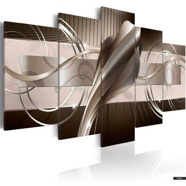 Wandbild BRAUNE KOBRA 100x50 cm