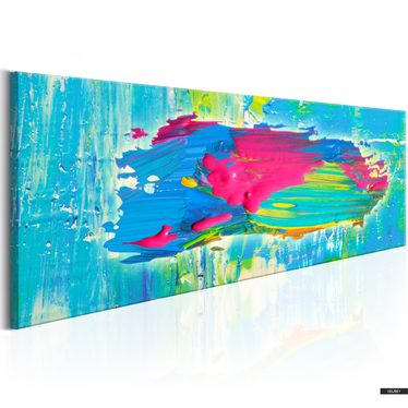 Wandbild BLAUE INSEL 135x45 cm
