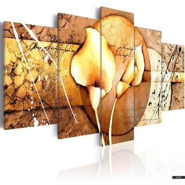 Wandbild CALLA GOLD 100x50 cm