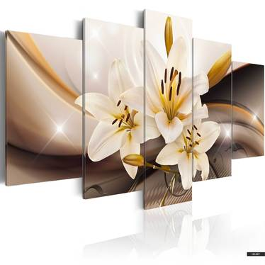 Wandbild GLÄNZENDE LILIE 200x100 cm