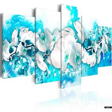 Wandbild BLAUE ORCHIDEE 100x50 cm