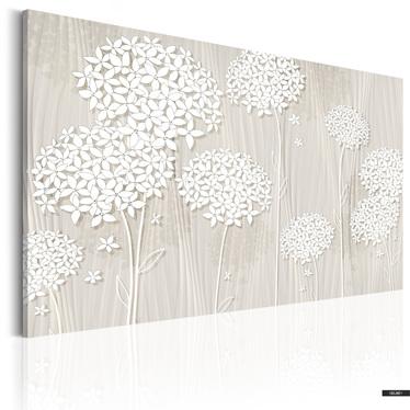 Wandbild BLUMEN IM WIND 90x60 cm