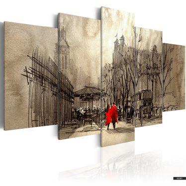 Wandbild ROMANTISCHER SPAZIERGANG 100x50 cm