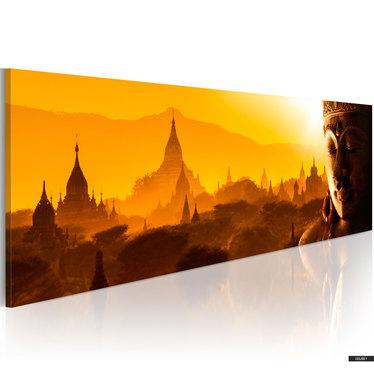 Wandbild SONNENAUFGANG IM ORIENT 135x45 cm