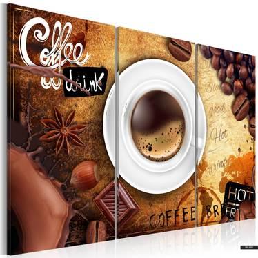 Wandbild CUP OF COFFEE 3-teilig 120x80 cm