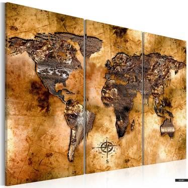 Wandbild WELT IN SCHILLERNDEN FARBEN 120x80 cm