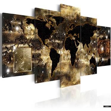 Wandbild KONTINENTE AUS BRONZE 100x50 cm