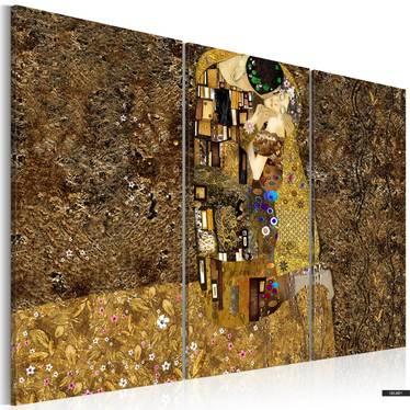 Wandbild KLIMT INSPIRATION - DER KUSS 120x80 cm
