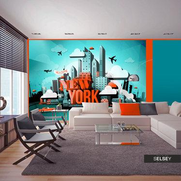 Fototapete WELCOME NEW YORK 400x280 cm