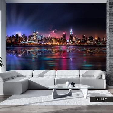 Fototapete NEW YORK BEI NACHT 400x280 cm