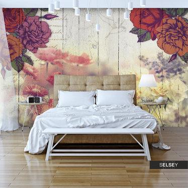 Fototapeta - Kwiaty vintage 350x245 cm