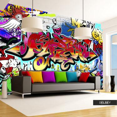 Fototapeta Street art: czerwony motyw